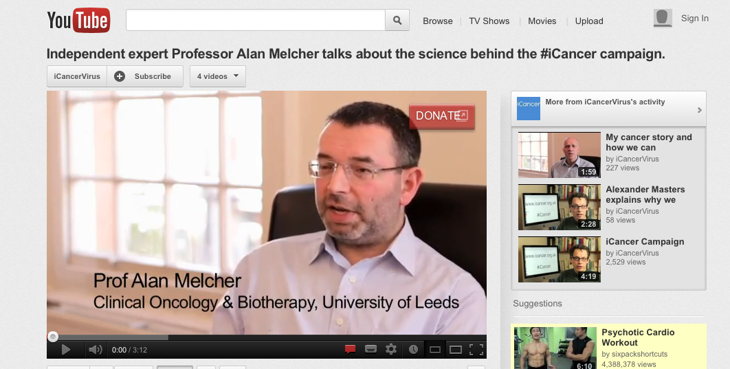 Independent expert Prof Alan Melcher talks about the science behind #iCancer